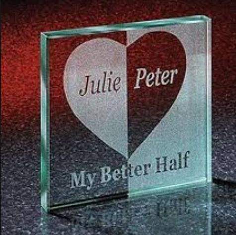 Glass Valentine's Gift