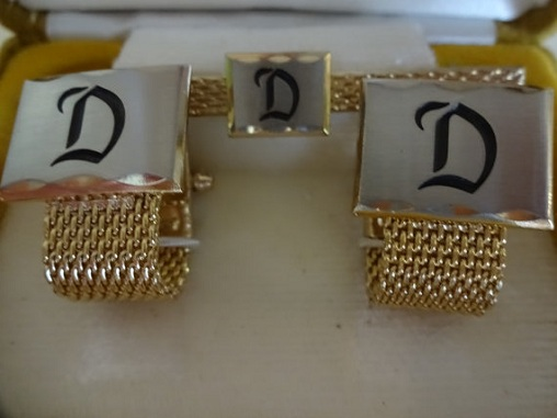 Gold Cuff Links for Valentine's Gift
