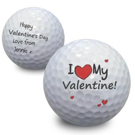 Golf Ball Valentine's Gift