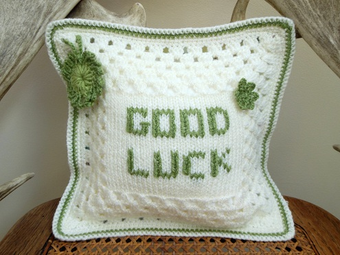 Good Luck Designer Cushion Gifts