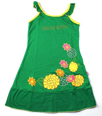 Green Embroidery Frock for Kids - Embroidery Frocks