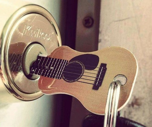 Guitar Shaped Keys
