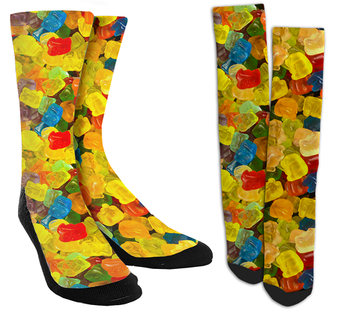 Gummy Bear Crew Socks for Men