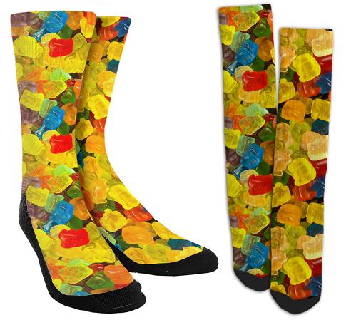 Gummy Bear Crew Socks for Men