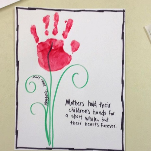 Hand Print Mothers Day Card