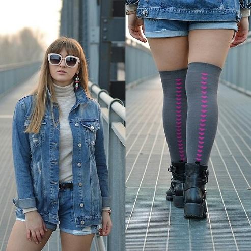 Heart Shaped Back Seam Socks