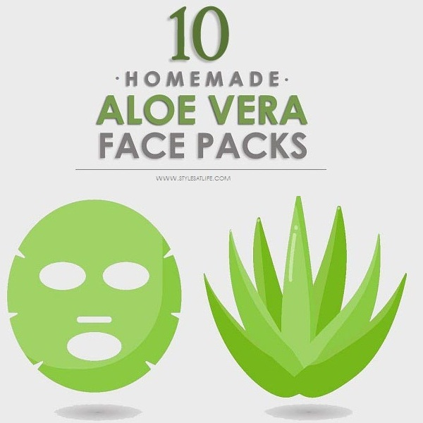 Homemade Aloe Vera Face Packs