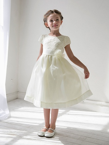 2062d01b4f7 Ivory Flower Girl Dresses are one of the most common girls flower dress  designs. This colour is a bit unique and must not be confused with the  regular white ...
