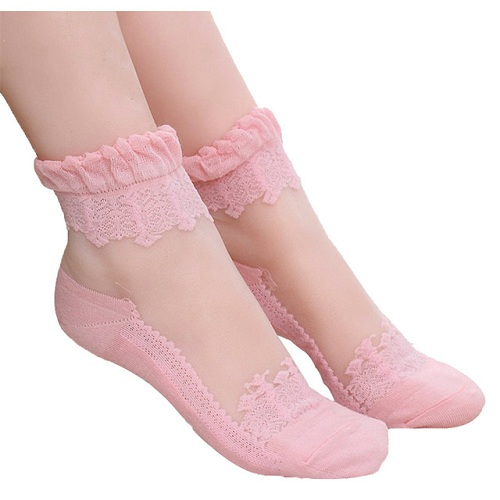 Lace Ankle Length Socks