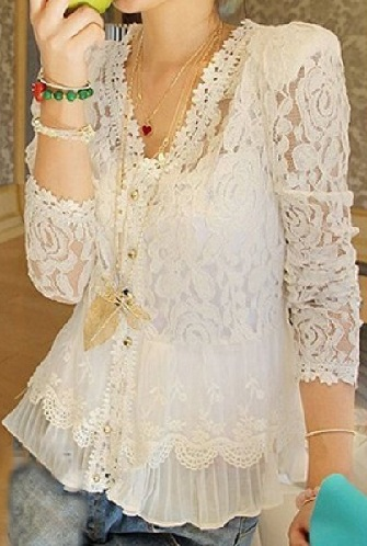 Lace Blouse for Her