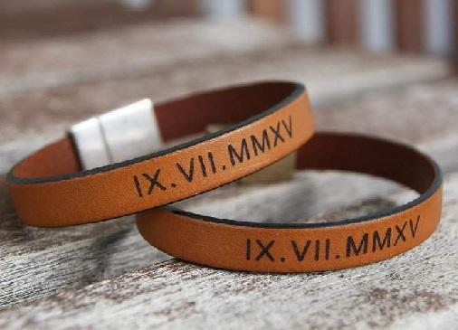 Leather Bracelet Anniversary Gift