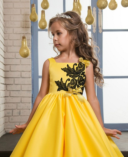 a52c6e992164 This is an excellent frock design in yellow color. It's a superb party wear  for your little ones. The umbrella design is very comfortable to wear.