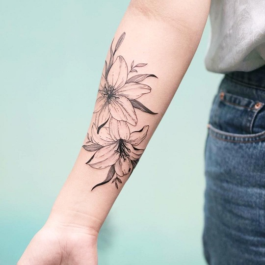 Lily Flower Tattoos On Wrist: 25 Interesting Lily Tattoos Designs And Their Meanings