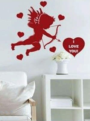 Love Cupid Wall Décor for Valentine's Gift