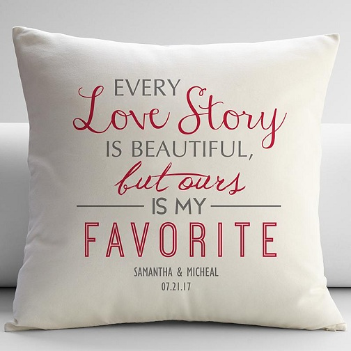 Love Story Pillow