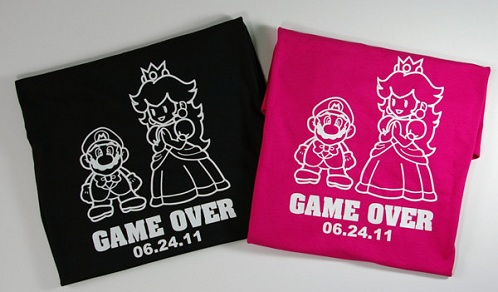Mario Game Over Couple T-Shirts