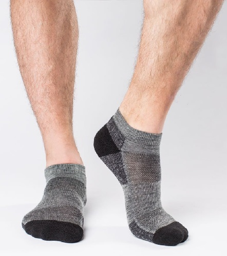 Mens Ankle Socks in Grey