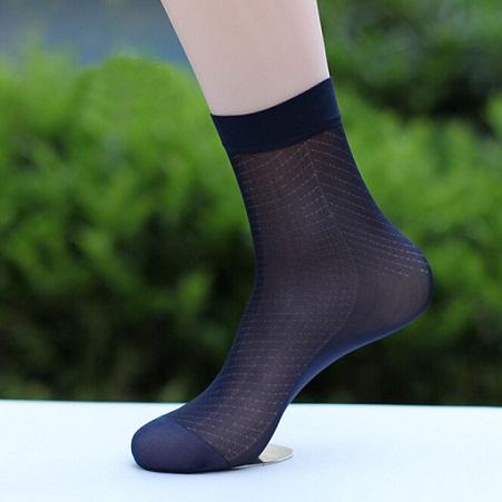 Mens Black Nylon Socks