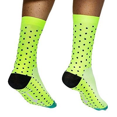 Men's Ankle Length Dot Compressed Running Sock