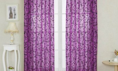 Modern Purple Curtain Designs for Home