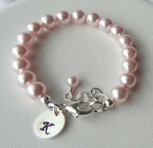 Monogram Pearl Bracelet