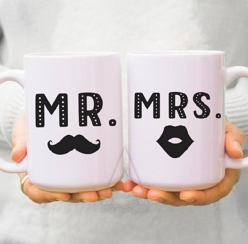 Mr. and Mrs. Couple Mug