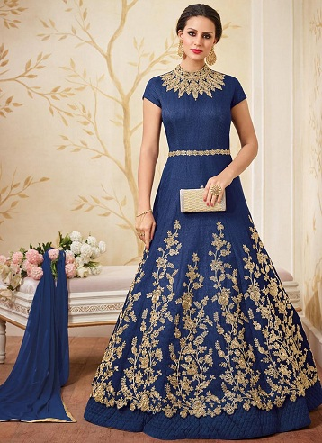 f2d703af0d99 9 Latest and Fashionable Blue Frocks for Women
