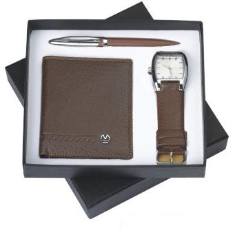 395822b86acb A common but wonderful gift set is the office combo that is also one of the best  gifts for men. This combo has a genuine leather wallet