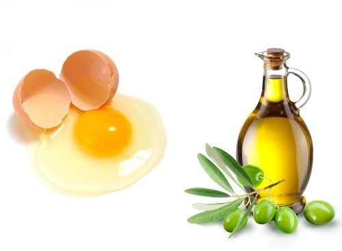 egg white and olive oil for dandruff