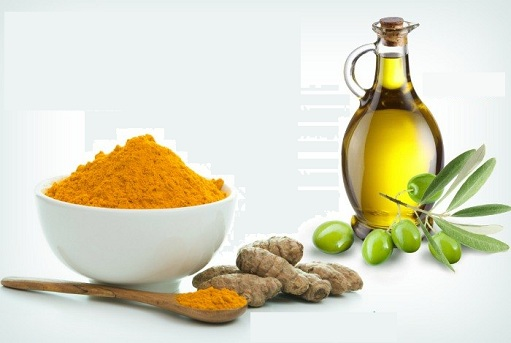 Turmeric and Olive Oil For Dandruff