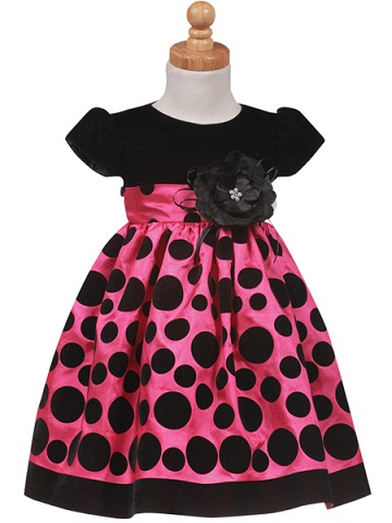 18bdd315ea49 This is a stylish baby girl velvet frock. It is a black and pink  combination and upper material is velvet material and lower part is satin  material.