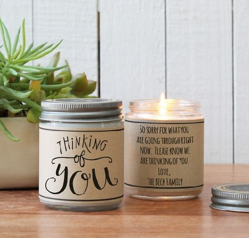 Personalised Candle Greetings Gift