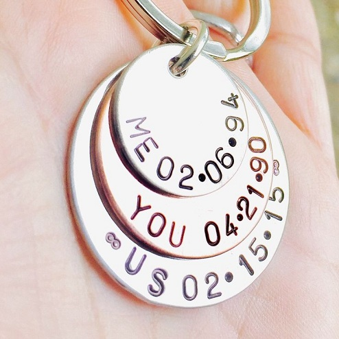 Personalised Keyring For Him