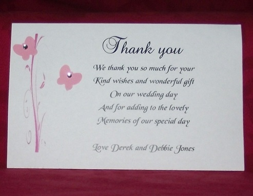 Personalised Thank You Card Gift