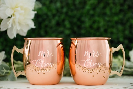 Personalized Copper Mug Gift For Couple