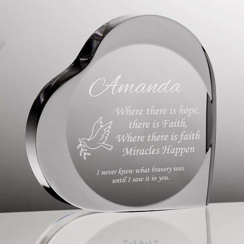 Personalized Crystal Frame for Her