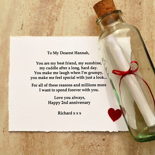 Personalized Gift Message in The Bottle