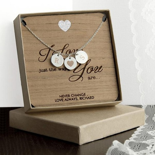 Personalized Silver Necklace for Wife