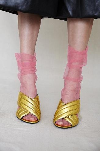 Pink Tulle Socks