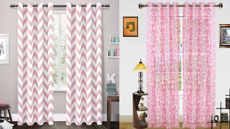 Pink Curtain Designs