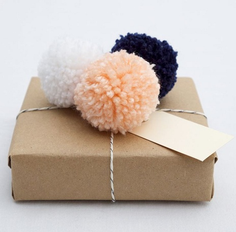 Pompom Gift Wrapping