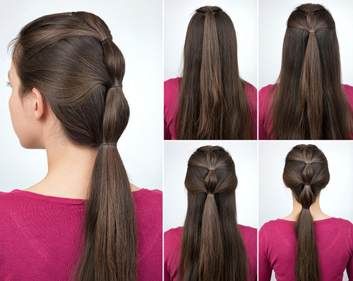 High Ponytail with Pony Braids