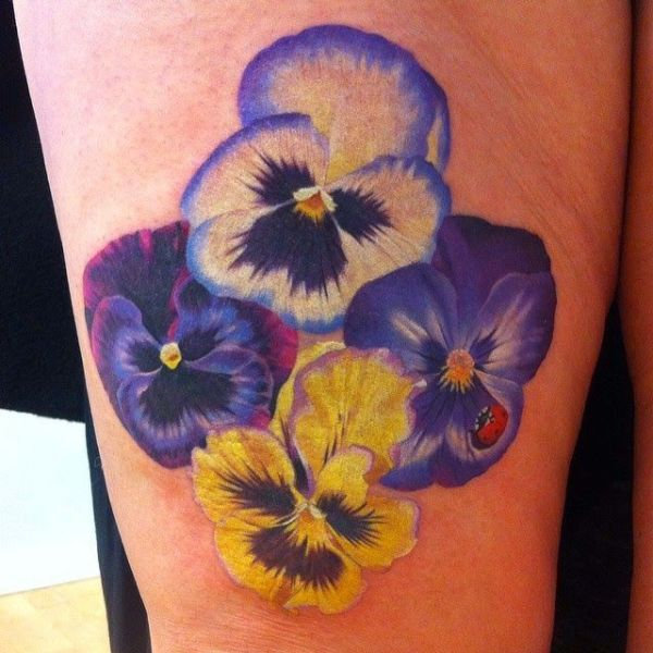 Ravishing Pansy Tattoo Designs With Images