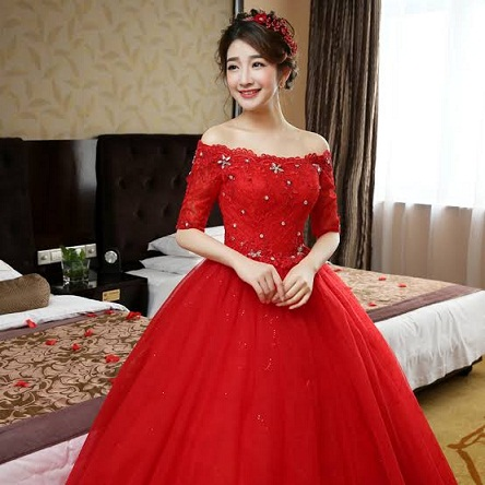 Red Lace Wedding Frocks
