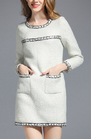 6aec0b895fdc Top 9 Fashionable Tweed Dress Designs for Women | Styles At Life