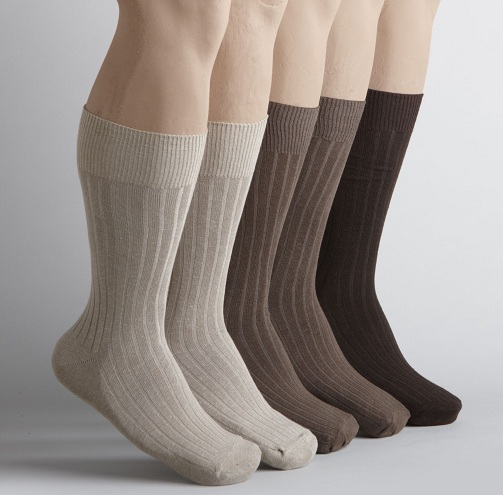 Ribbed Cotton Socks for Men