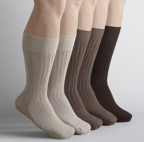 Ribbed Cotton Socks for Men