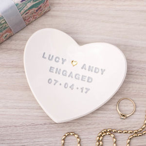 15 unique and best engagement gifts with images styles at life for the day of the engagement it is lovely to gift the couple a ring dish this ring dish will hold the ring it can be engraved with the couple names negle Choice Image