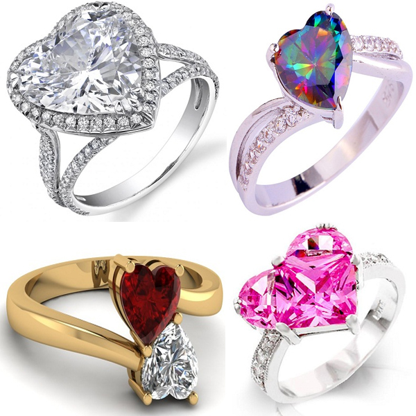 Heart Shaped Diamonds Rings