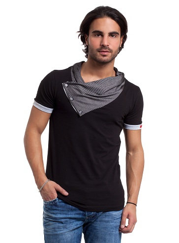 15 latest and fashionable collar t shirt designs styles for Shawl collar t shirt